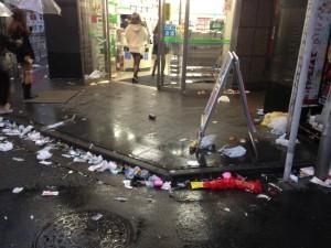 ハロウィンゴミ渋谷2
